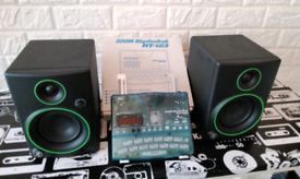 Active speakers & drum machine & stand may px