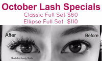 October Lash Specials - Certified Esthetician & Eyelash Tech.