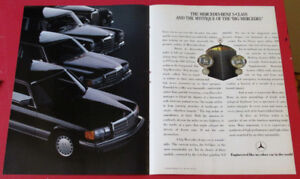 1987 MERCEDES BENZ S CLASS AD WITH PAST MODELS - VINTAGE RETRO