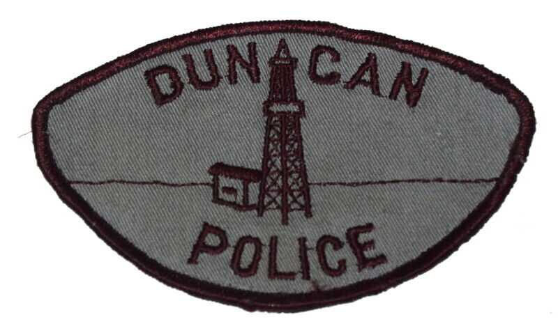 DUNCAN OKLAHOMA OK Sheriff Police Patch VINTAGE OLD MESH USED ~