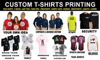 Printing: T-shirts, business cards, flyers, signs, websites