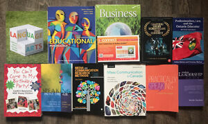 Various University Textbooks - Business, Education, Comm.