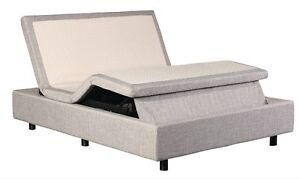 Electric Adjustable Bed without Headboard / Lit Ajustable