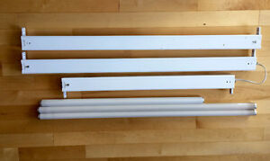 2 X 4' 1 X 3' florescent lights with tubes