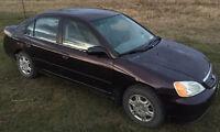 2001 Honda Civic DX-G Sedan