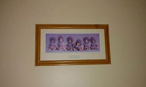 Wall Art - Purple Babies
