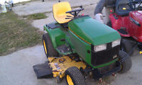 JD 425 Garden Tractor with mower and snow blower