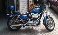Immaculate Electric Blue Harley 883x Customized Sporster