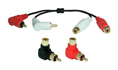 Ein Winkel (Ein Set Premium 90° Cinch-Winkelstecker Adapter(Kabel) | Stereo )