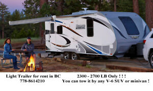 Lightweight RV / Trailer for Rent in BC !