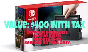 Nintendo switch LIKE NEW. +2 games+ hardcase