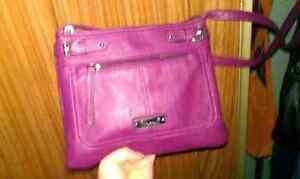 Pink/purple leather purse