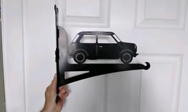 Mini car hanging basket bracket man cave cool