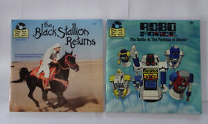 Read Along Book and Records, the Black Stallion and Robo Force