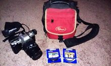 Pentax MZ50 non-digital SLR w filters and Lowepro Camera bag. Kuraby Brisbane South West Preview