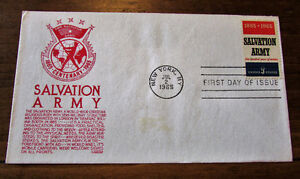 1965 Centenary Salvation Army 5 Cent First Day Cover Kitchener / Waterloo Kitchener Area image 1