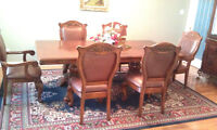 Dining table set and buffet like brand new for sale
