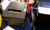 Epson TM-T88IV Thermal Receipt Printer with USB and Paper