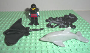 LEGO Minifigures Dolphin Octapus StingRay Diver Action Minifigs