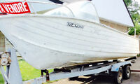Aluminum boat with motor & trailer for sale
