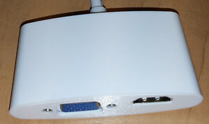 For Sale - Displayport to HDMI-VGA adapter for Apple laptop