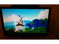 LG M227D TV/MONITOR, FULL HD 1080p, 2 HDMI, DVI-D, RGB, DIGITAL OPTICAL & SCORTS, LIKE NEW WORKING.