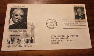 1965 Sir Winston Churchill in Memoriam 5 Cent First Day Cover
