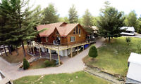 Western Red Cedar Log Home on the French River w/ Many Extras!