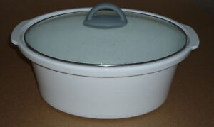 White Ceramic Roater or Dutch Oven .. as shown .. like New .. Cambridge Kitchener Area image 2