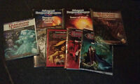 2nd/4th Edition Dungeons and Dragons tomes/modules/figures