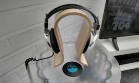 Cool wooden headphones stand new