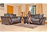 30 DAYS MONEY BACK GUARANTEED - BRAND NEW SHANNON 3+2 AND CORNER SOFA AVAILABLE