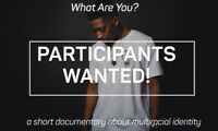 MIXED RACE Canadians wanted for documentary