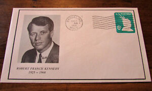 1968 Robert Francis Kennedy Commemorative 6 Cent Cover Kitchener / Waterloo Kitchener Area image 1