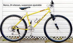 Norco velo de montagne, 24 vitesses, suspension ajustable