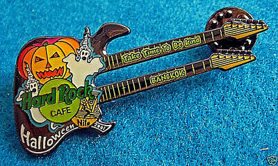 BANGKOK HALLOWEEN NITE 2001 THAI DANCE GHOSTS DN GUITAR Hard Rock Cafe PIN