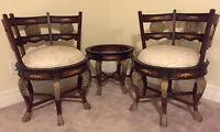 Bedroom Chairs $399 each and Table $199 (Brand New) Ltd. Stock