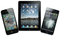 Repairs to: CELL PHONES; TABLETS (iPhone, iPad, etc)