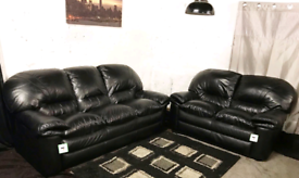 ! Dfs ex display real leather 3+2 seater sofas