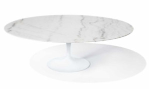 Oval Marble Tulip Dining Table - Brand New