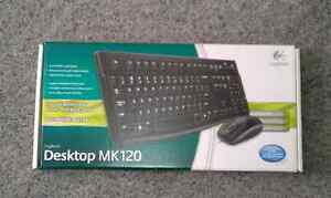 Keyboard and mouse. New