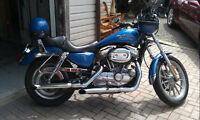 Immaculate Electric Blue Harley 883x Customized Sportster