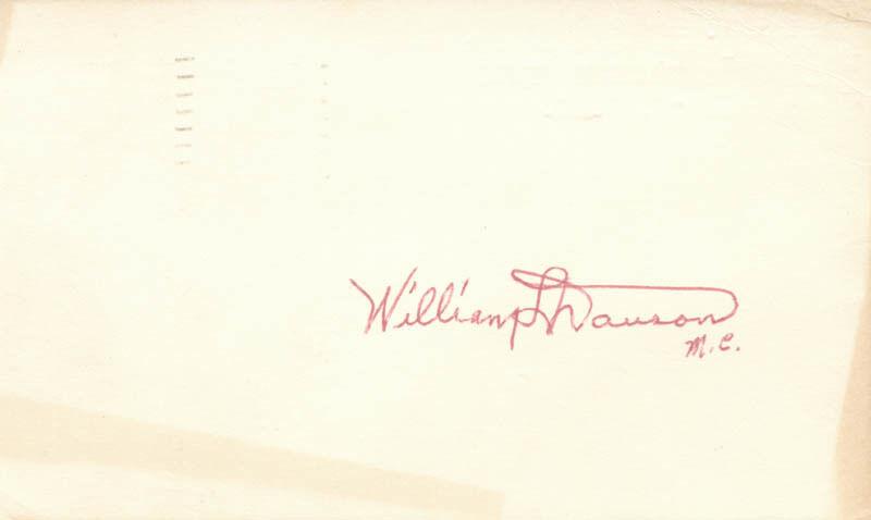 WILLIAM L. DAWSON - SIGNATURE(S)