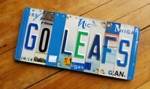 Reclaimed Licence Plate SIgns