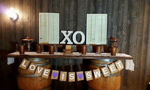 Wine Barrels and Barnwood Table for Rent
