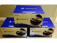 3 x BRAND NEW BOXED PSVR HEADSETS FOR SALE - PLAYSTATION VR - PS4 FROM JOHN LEWIS WITH UK WARRANTY