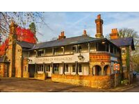 Bar and Waiting Staff Wanted Surrey Pub Of The Year 2015 East Horsley Full/Part Time