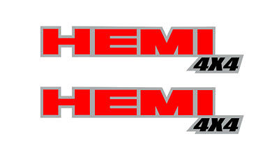 (Dodge Hemi 4x4 Decals (2) Dakota Ram Truck Graphic Bed Side Stickers H5)