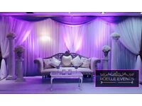Wedding and Event stage decor/ throne chairs&sofa for hire from £150