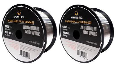 2 Rolls Er4043 0.030 In. Dia 1 Lb. Aluminum Mig Welding Wire Spool M-4043